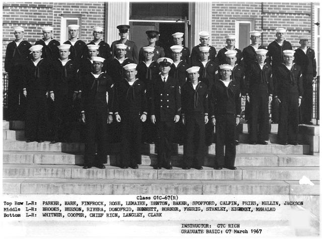 Corry Field CT School Basic Class 01C-67(R) March 1967 - Instructor:  CTC Monty Rich