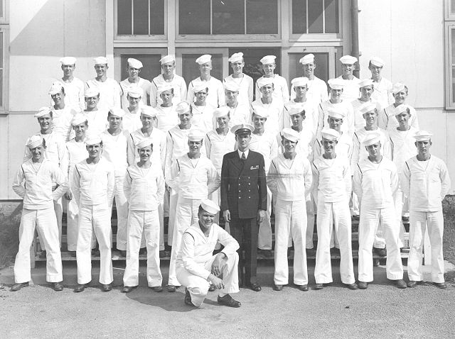 USNTC Bainbridge, MD  Class of  Aug 1946 - Instructor RMC Flanigan