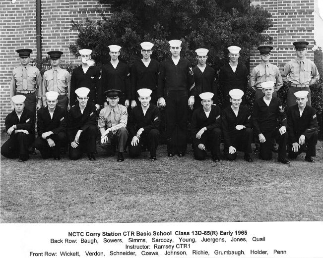 Corry Field CT School Basic Class 13D-65(R) Mar 1965 - Instructor:  CTR1 Ramsey