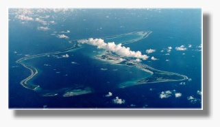 Aerial view of Diego Garcia