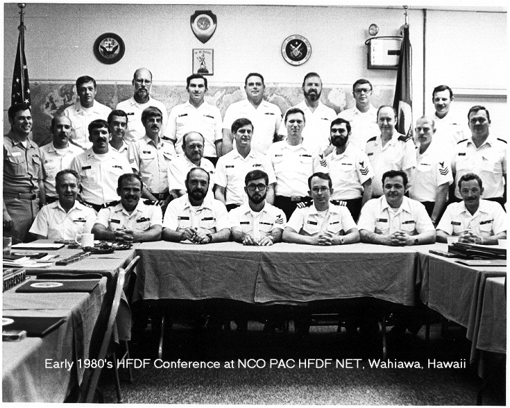 Early 1980's HFDF Conference at NCO PAC HFDF NET, Wahiawa, Hawaii