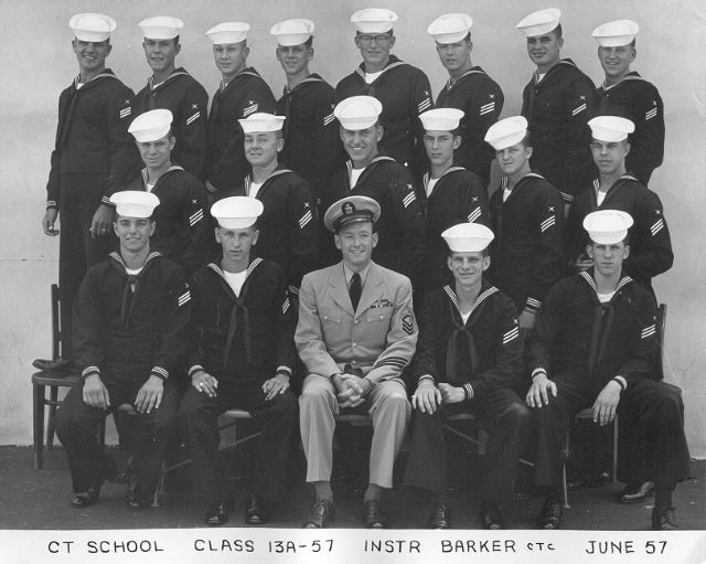 Imperial Beach (IB) Adv. Class 13A-57(R)  June 1957 - Instructor CTC Barker