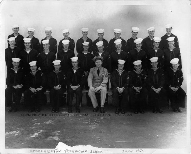 Imperial Beach (IB) Adv. Class 20A-55(R) July 1955 - Instructor: CTC Daniel Callahan
