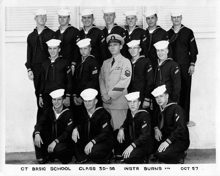 Imperial Beach (IB) Basic Class 3D-58(R) Oct 1957 - Instructor CTC Burns