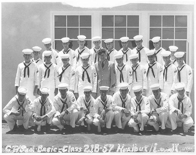 Imperial Beach (IB) Basic Class 21B-57(R)  July 1957 - Instructors CTC Hurlbut/CTC Lundt