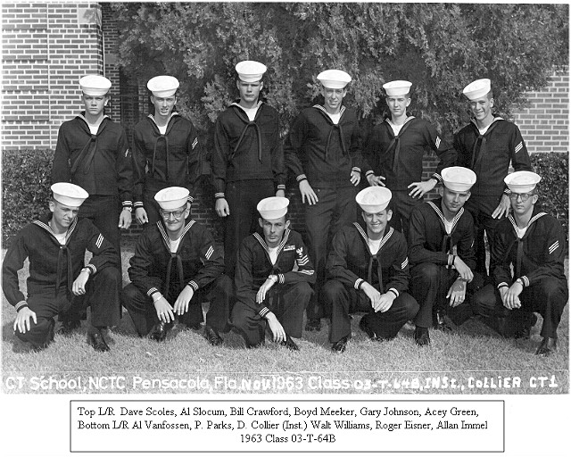Corry Field Class 03-64(T) Nov 1963 - Instructor: CT1 Collier