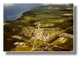 Aerial photo of Guam, showing CDAA