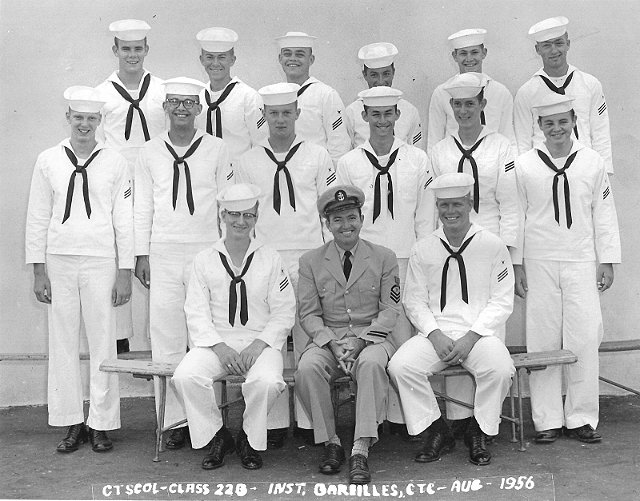 Imperial Beach CT School Class 22B-56(O) Aug 1956 - Instructor CTC Bareilles