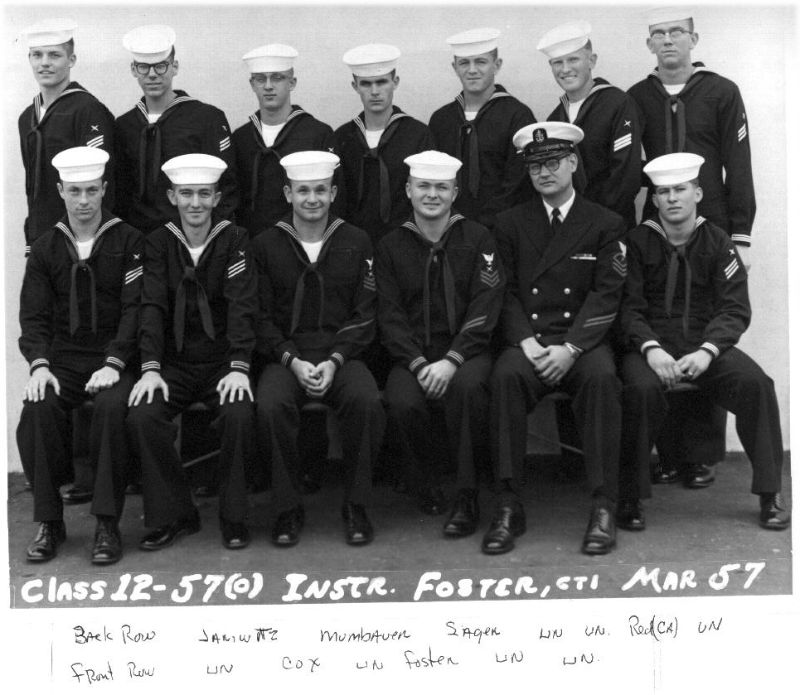 Imperial Beach (IB) Adv Class 12-57(O) Mar 1957 - Instructor CT1 Foster