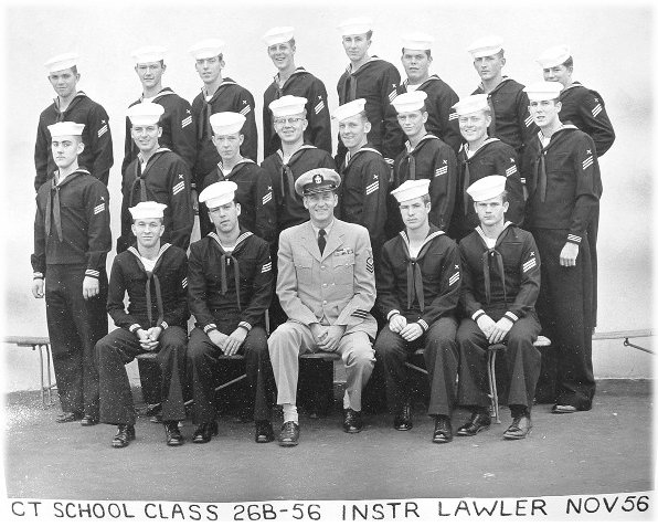Imperial Beach (IB) Adv. Class 26B-56(R) Nov 1956 - Instructor: CTC L.J. Lawler