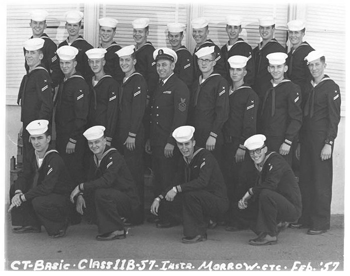 Imperial Beach (IB) Basic Class 11B-57(R) Feb 1957 - Instructor CTC Morrow