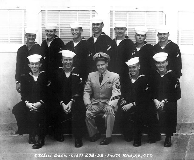 Imperial Beach (IB) Basic Class 20B-58(R) June 1958 - Instructor: CTC P.E. Rice