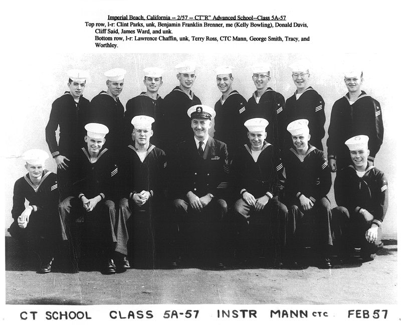 Imperial Beach (IB) Advanced Class 5A-57(R) Feb 1957 - Instructor CTC Lashley Mann