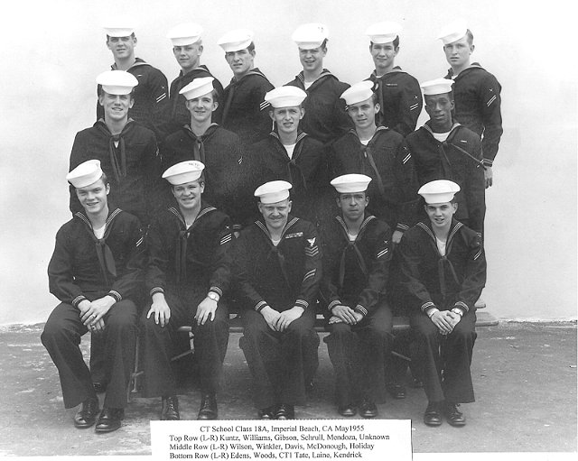 Imperial Beach CT School Advanced Class 18A-55(R) May 1955 - Instructors CT1 Tate