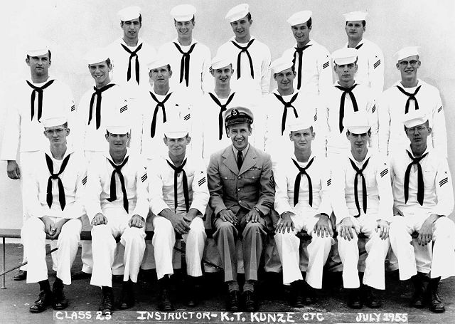 Imperial Beach (IB) Adv. Class 23-55(R) July 1955 - Instructor CTC K.T. Kunze
