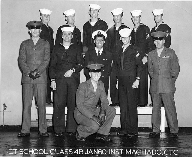 Imperial Beach CT School Advanced Class 4B-60(R) January 1960 - Instructor CTC Machado