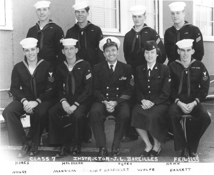 Imperial Beach (IB) Adv. Class 7-55(R) Feb 1955 - Instructor CTC J. L. Bareilles