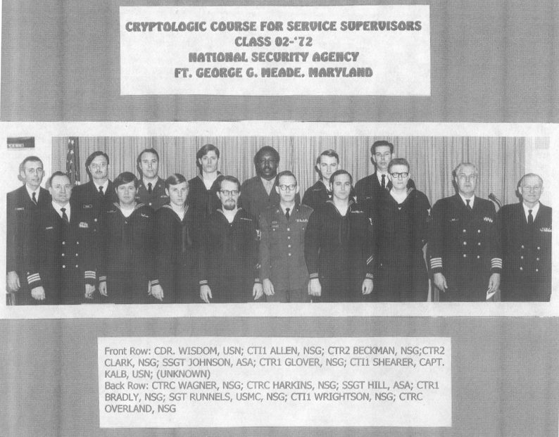 Cryptologic Course for Service Supervisors Class 02-72