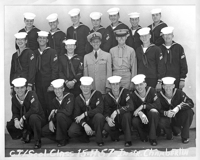 Imperial Beach (IB) Adv. Class 15A-57(R)  June/July 1957 - Instructor CTC Chamberlin