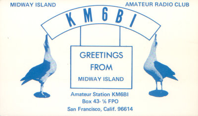 KM6BI Midway Islands .. circa 1969