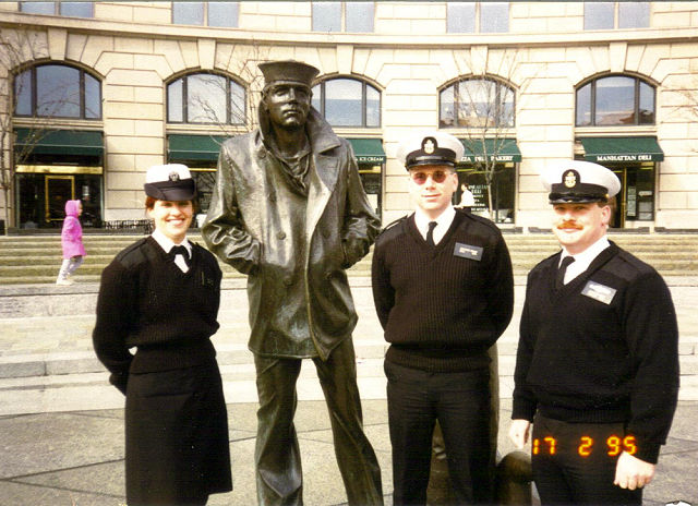 Fort Meade NTTCD Staff at Navy Memorial - 1995