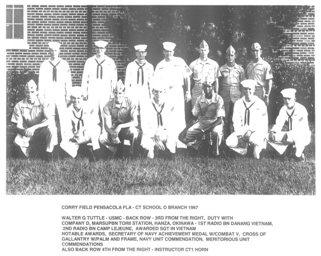 Corry Field CT School CTO Class of Sept 1967 - Instructor: CT1 Horn