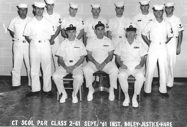 Corry Field P&R Class 2-61(P&R) Sep 1961 - Instructor CTC Boley, Justice, Hare