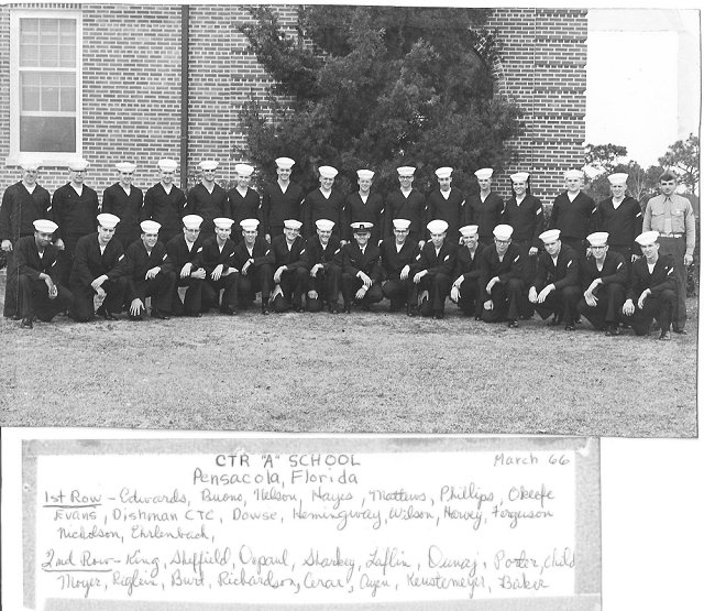 Corry Field CTR Basic Class 13B-66(R) March 1966 - Instructor CTC Dishman