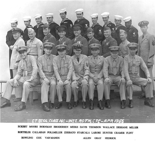 Imperial Beach (IB) Advanced CTR Class 16C-56(R) April 1956 - Instructor CTC H.K. Roth