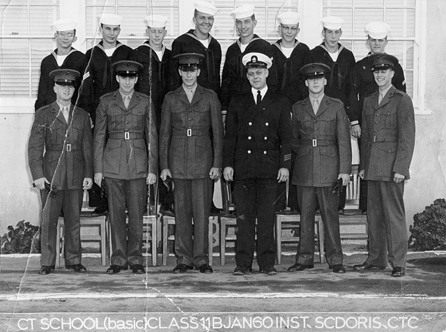 Imperial Beach (IB) Basic Class 11B-60(R) Jan 1960 - Instructor CTC Scdoris