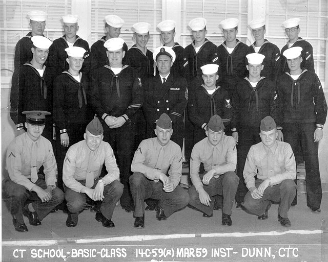 Imperial Beach (IB) Basic Class 14C-59(R) Mar 1959 - Instructor CTC Dunn