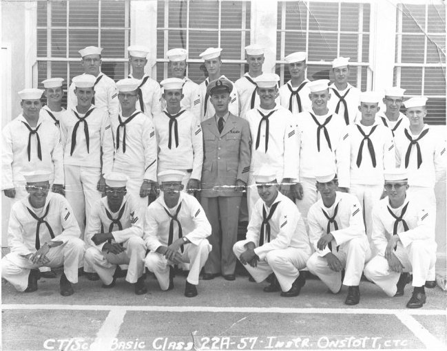 Imperial Beach CT School Basic Class 22A-57(R) Jul 1957 - Instructor CTC Onstott