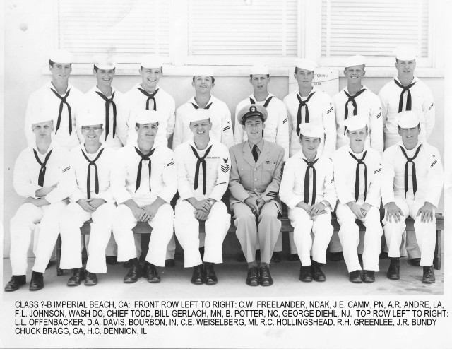 Imperial Beach (IB) Basic Class ?-55(R) Apr/May 1955 - Instructor CTC Todd