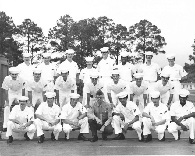 Corry Field (CTT) Advanced Class of April 1972 - Instructor CT1 Swisher