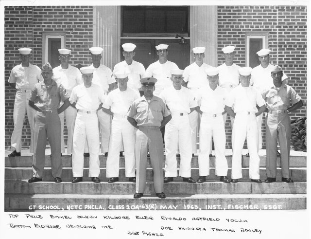 Corry Field CT School Basic Class 20A-63(R) May 1963 - Instructor:  SSGT Fischer (USMC)