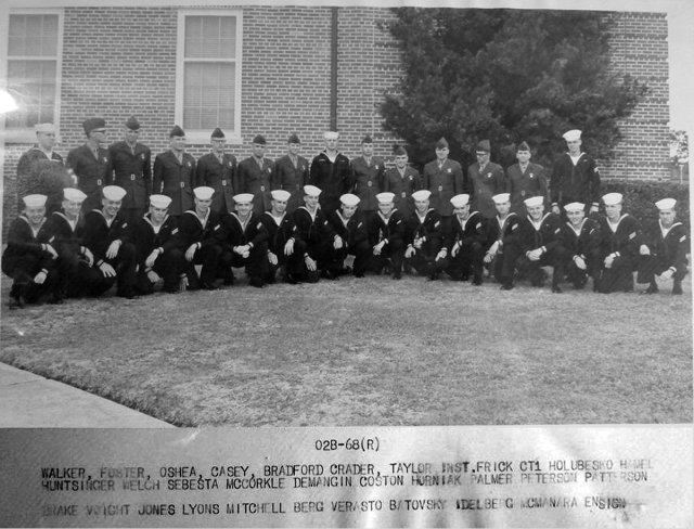 Corry Field CT School CTR Basic Class 02B-68(R) March 1968 - Instructor: CT1 Frick