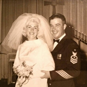 Wedding photo at Clark Air Force base, Philippines in 11/69