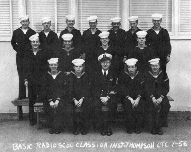 Imperial Beach (IB) Basic Class 10A-56(R) January 1956  - Instructor: CTC Thompson