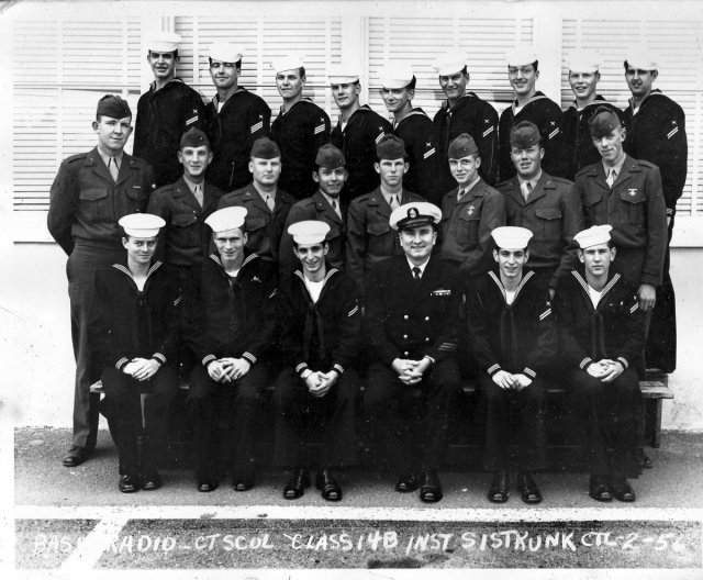 Imperial Beach (IB) Basic Class 14B-56(R) Feb 1956 - Instructor: CTC Sistrunk