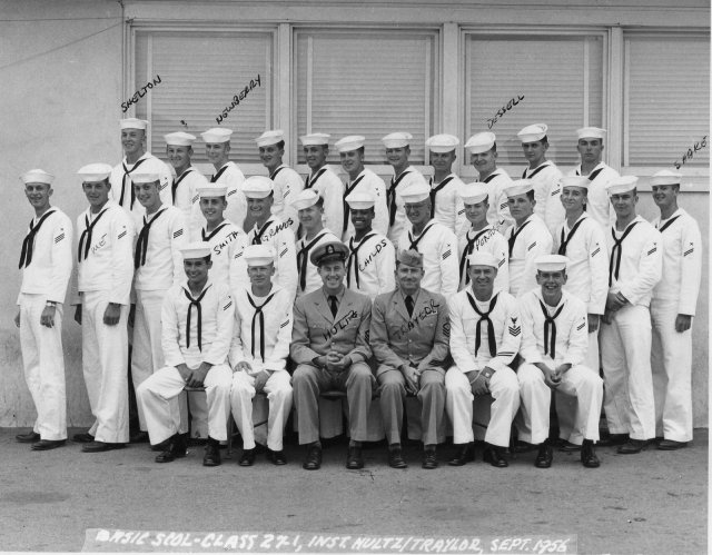 Imperial Beach (IB) Basic Class 27-1-56(R) Sept 1956 - Instructors CTC Hultz/CTC Traylor